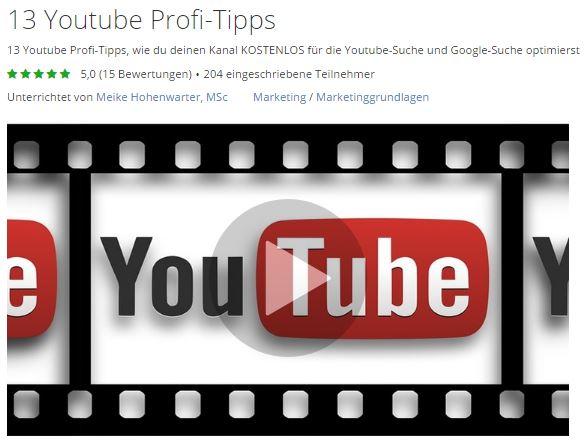 youtube-profi-tipps-meike-hohenwarter-udemy-kurs
